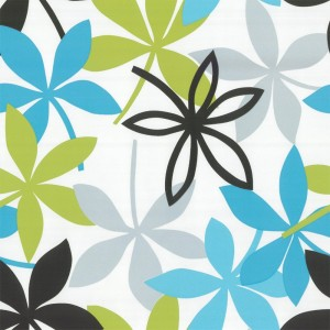 green and blue modern floral wallpaper