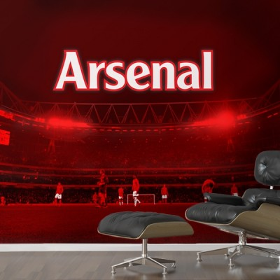 Watford decorators childrens kids bedrooms decorating for Arsenal mural wallpaper