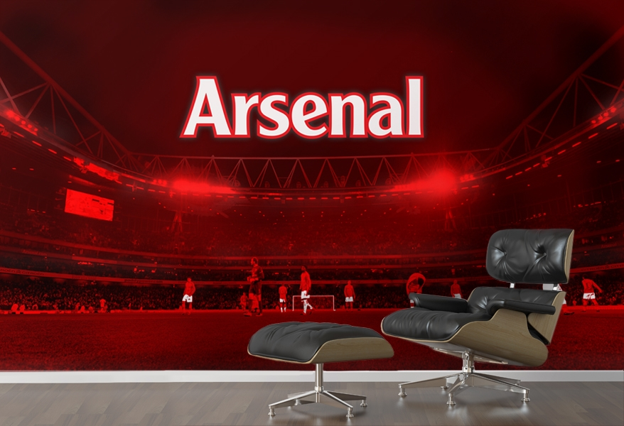 Painter and decorator in watford hemel hempstead watford for Arsenal mural wallpaper