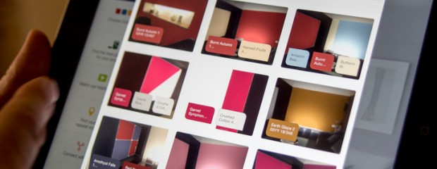 Dulux App showing feature wall colours
