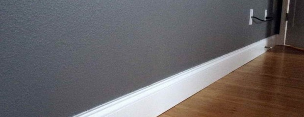 White Satinwood Skirting Board and Grey Matt Walls