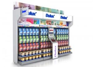 dulux paint display