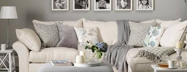 grey monotone interior design and photo frames