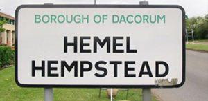 Hemel Hempstead Road SIgn