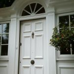 Painted door and entrance in Elstree Hertfordshire