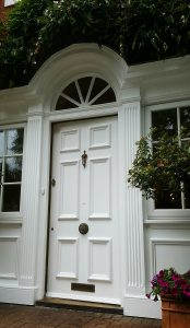 Finished Painted door and entrance in Elstree Hertfordshire