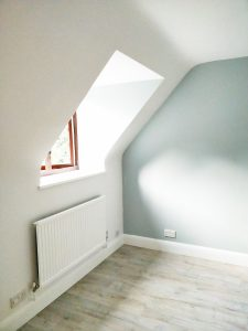 Bedroom painted in Farrow and Ball in Chipperfield Kings Langley