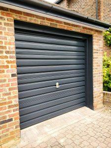 Finished Painted Garage door cassiobury estate in watford