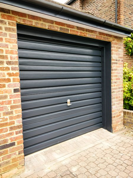 Finished Painted Garage door cassiobury estate in watford