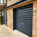 Painted Garage door cassiobury estate watford