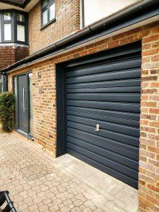 Painted Garage door cassiobury estate watford